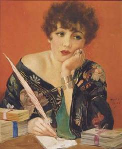 vintage-woman-writing